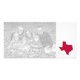 Tejas en rojo tarjeta fotográfica