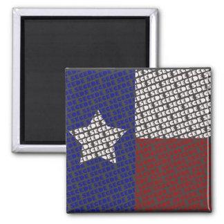 Tejas enrrollado SECEDE el imán de la bandera