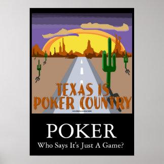 Tejas es país del póker poster