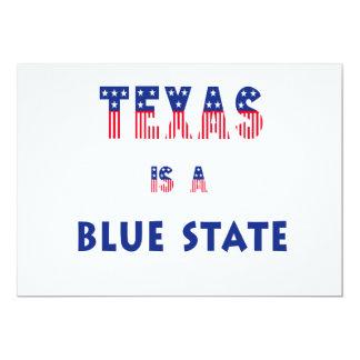 Tejas es un estado azul invitacion personalizada