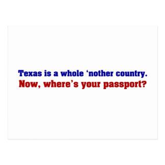 Tejas es un país entero del nother postal