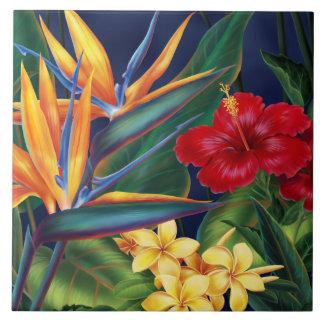 Tejas florales hawaianas y Trivets del paraíso tro