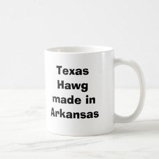 Tejas Hawg hecho en Arkansas Taza Básica Blanca