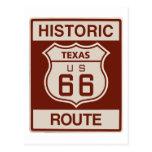 Tejas histórico RT 66 Postal