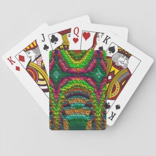 Tejas inusuales extrañas cartas de juego