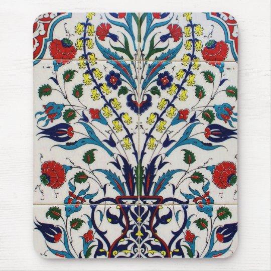 Tejas islámicas tradicionales del diseño floral tapetes de ratón