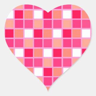 Tejas juguetonas del color del lápiz labial del pegatina en forma de corazón