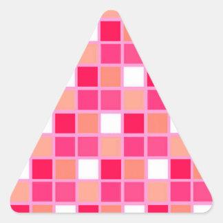 Tejas juguetonas del color del lápiz labial del pegatina triangular