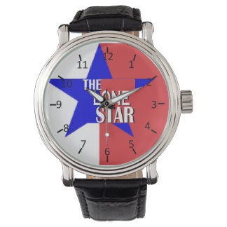 Tejas la estrella solitaria relojes de mano