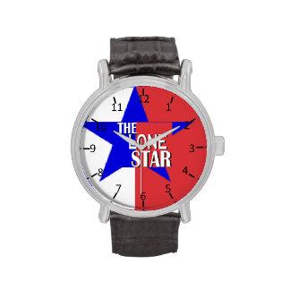 Tejas la estrella solitaria relojes de pulsera