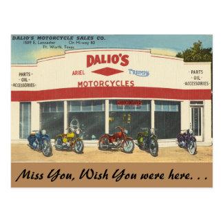Tejas, las motocicletas de Dalio, Fort Worth Tarjetas Postales