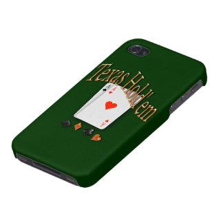 Tejas los sostiene póker iPhone 4 protector