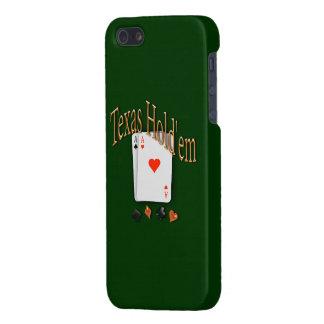 Tejas los sostiene póker iPhone 5 cárcasa