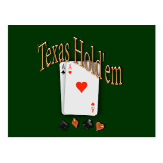 Tejas los sostiene póker postales