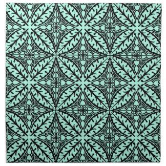 Tejas marroquíes - aguamarina azul y negra servilletas