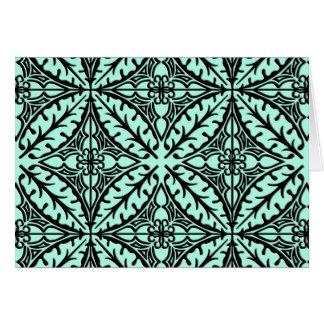 Tejas marroquíes - aguamarina azul y negra tarjeta pequeña