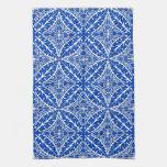 Tejas marroquíes - azul y blanco de cobalto toalla de mano