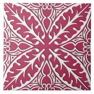 Tejas marroquíes - magenta y blanco