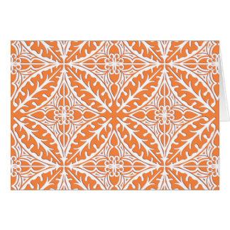 Tejas marroquíes - naranja coralino y blanco tarjeta pequeña