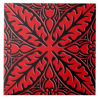 Tejas marroquíes - rojo oscuro y negras