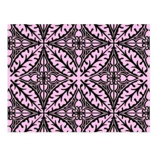 Tejas marroquíes - rosa y negro del hielo tarjetas postales
