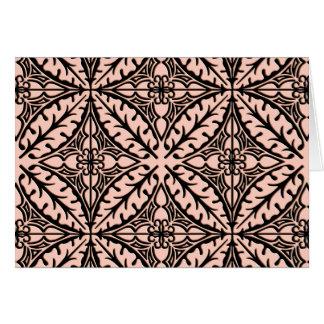Tejas marroquíes - rosa y negro del melocotón tarjeta pequeña