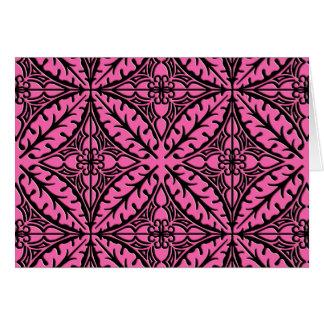 Tejas marroquíes - rosado y negro fucsias tarjeta pequeña