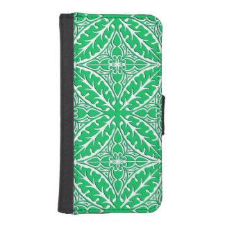 Tejas marroquíes - verde y blanco de jade funda tipo billetera para iPhone 5