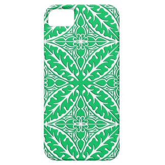 Tejas marroquíes - verde y blanco de jade iPhone 5 funda