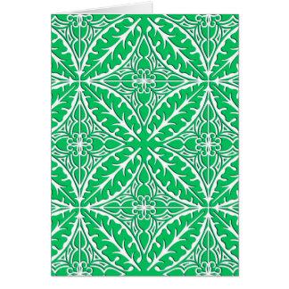 Tejas marroquíes - verde y blanco de jade tarjeta pequeña