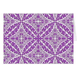 Tejas marroquíes - violeta y blanco tarjeta pequeña