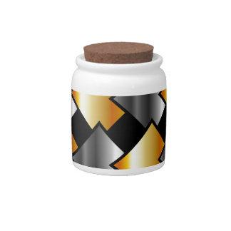 Tejas metálicas jarra para caramelo