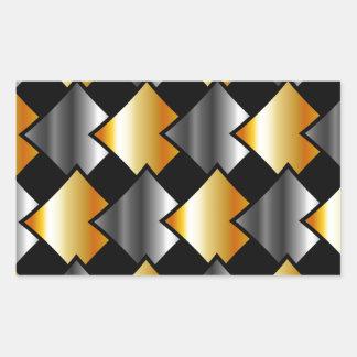 Tejas metálicas pegatina rectangular