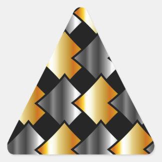 Tejas metálicas pegatina triangular