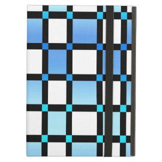 Tejas modernas de la casilla negra azul y