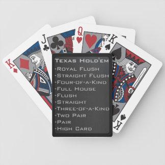 Tejas moderno Holdem carda No 1 Baraja De Cartas