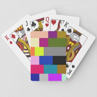 Tejas multicoloras barajas de cartas