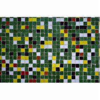 Tejas multicoloras esculturas fotográficas