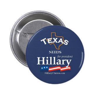 Tejas necesita el botón de Hillary Pin