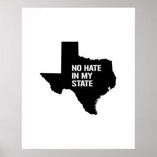 Tejas: Ningún odio en mi estado Póster