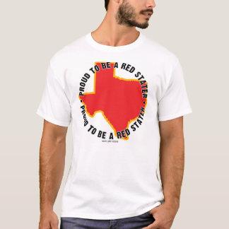 Tejas: ¡Orgulloso ser una camiseta roja de Stater!