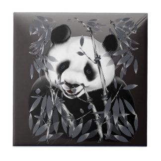 """Tejas ovales """"n"""" Trivets de la panda gris del tono"""