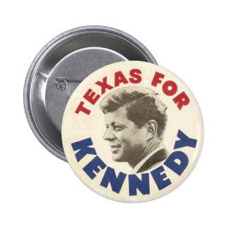 Tejas para el botón del humor negro de Kennedy Pin Redondo De 2 Pulgadas