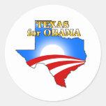 Tejas para Obama 2012 Pegatina Redonda