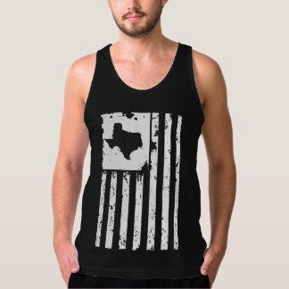 Tejas patriótico y bandera americana playera de tirantes