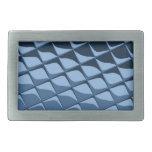 Tejas plásticas azules hebilla cinturon rectangular