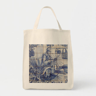 Tejas portuguesas del azulejo bolsa tela para la compra