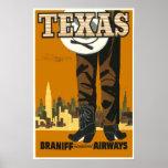 Tejas - poster del viaje del vintage