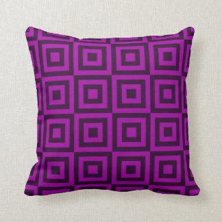 Tejas púrpuras oscuras cojines