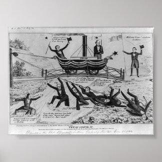 Tejas que viene adentro, 1844 póster
